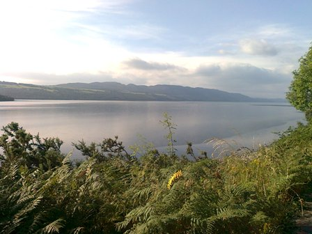 Utsikt över Loch Ness (utan Nessie!)