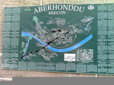 Karta över Brecon