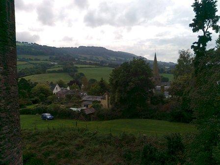 Utsikt från Grosmont Castle