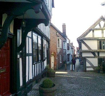Ledbury, Church Lane, uppifrån