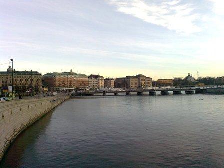 Stockholm - Utsikt mot Grand Hotel och Nationalmuseum