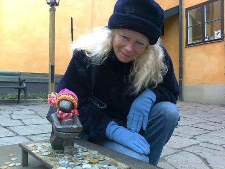 Stockholm - Den lilla statyn