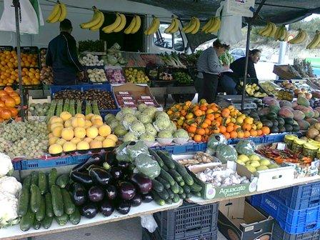 Spanien, frukt- och grönsaksstånd